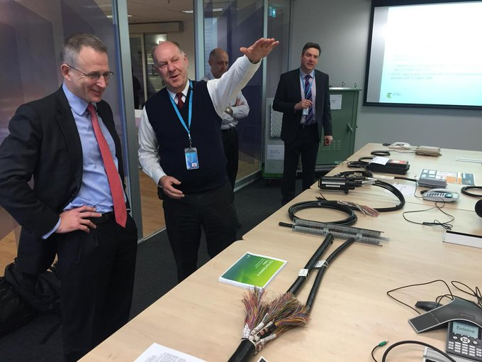 Being briefed by Telstra on pair gains systems and broadband technology #Commsau http://t.co/iaw9TMoVCk