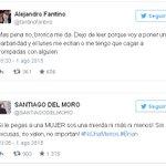 "Excelente Santiago del Moro respaldó a Fantino ""el que le pega a una mujer es una mierda"" x Brian de #GH2015 #cuba http://t.co/3sGtt4s8E7"