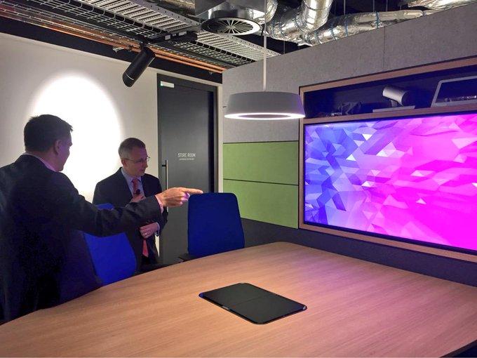 Touring the new @Telstra #Gurrowa innovation lab in Melbourne with CTO Vish Nandlall #commsau #startupaus http://t.co/27KAVzZiLB