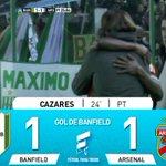 Gol de Banfield: Cazares 24 PT.: Banfield 1 – Arsenal 1. Miralo en vivo por http://t.co/HMvKNzgPHC http://t.co/R8VGc9JFqc