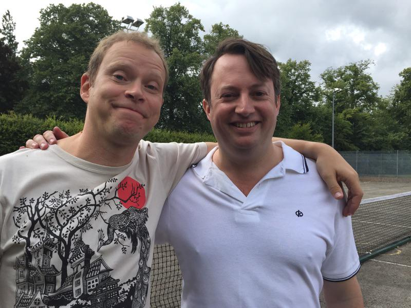 Peep Show Series 9 started shooting yesterday. SPOILER ALERT it features these 2 idiots: @RealDMitchell  @arobertwebb http://t.co/wAxAWR0DHP