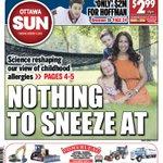 TUESDAYS #OTTAWA SUN P1: Science helping parents understand allergies is NOTHING TO SNEEZE AT. via @danielledube13 http://t.co/hXBKK1IKbK