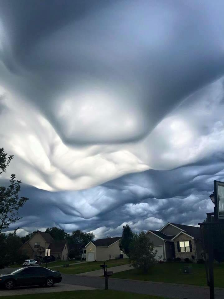 @JimCantore !!! RT @ShawnRTV6: Gorgeous! | Undulatus asperatus clouds in Lexington, KY [via Jane Mosser] #KYwx http://t.co/9qeZF38lCY