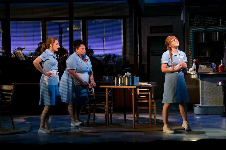 first look at Jessie Mueller, Keala Settle, and Jeanna de Waal in #WaitressART! @kealasettle @thebigdewaal http://t.co/48aYrHMkSk