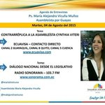 Mañana 7h30 en @ecuavisa réplica a C. Viteri y 17h15 en @radiosonorama sobre #DialogoPorEquidad @AsambleaEcuador http://t.co/BliU01V51K
