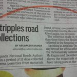 We must get the devil out of #UNRA. Road fine collections tripled overnight! Amazing http://t.co/TdlMG9KFGu