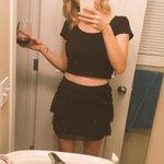 Got my outfit ready for tomorrow ???? @taylorswift13 #1989TourEdmonton #standinginanicedressstaringatthesunsetbabe http://t.co/FCwHU4meR6