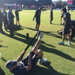 .@BLACKCAPS beginning their warm up in cool and fine conditions #ZIMvNZ ^PT http://t.co/cKdVl7iSqb
