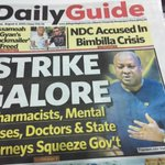 Ghanas state pharmacists join doctors on strike adding to the woes of the health sector http://t.co/Hc6fHQlBMY http://t.co/kXcHrVF7sz
