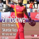 #ZIMvNZ Zim 21/0 in 6 overs in pursuit of 236 runs.Will @SRazaB24 s knock be enough to clinch the series?#ZimTurnUp http://t.co/2NSHCxdYD3