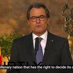 Somos una nación milenaria que tiene derecho a decidir su futuro. - Artur Mas [Vídeo : http://t.co/mjeQewGHiX] http://t.co/OP1IOxkq2G