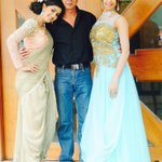 The Galrani sisters with their dad shoot for a popular TV show in Malayalam