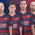 Los 4 capitanes del Barcelona 2014/15 . Mascherano llevara un brazalete que ya se le presumía http://t.co/sW6QeDVJIT