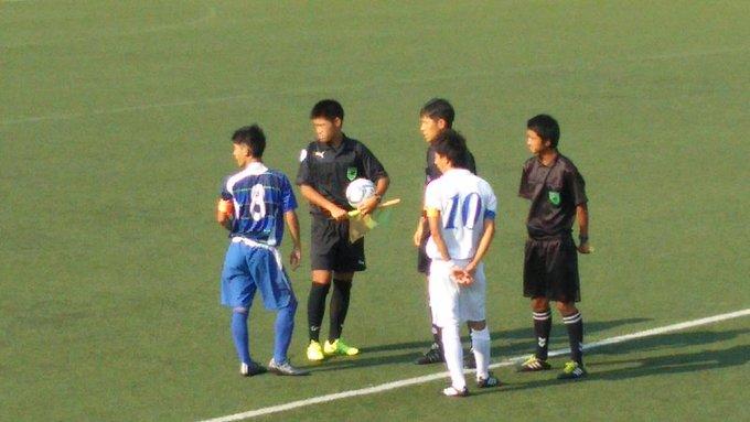 高校サッカー東京都 T2リーグ 試合終了 トリプレッタユース2-0大成高  両チームのキャプテン。中盤でぶつかるシーンは見応えがあった。 http://t.co/dM6lprTgPD