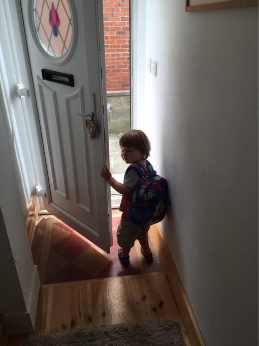 @Disney_UK Off on holiday with his new Mickey backpack! ? #mydisneystore http://t.co/gONU6s2F6F