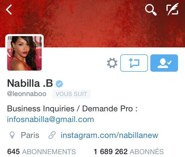 N'hésitez pas à aller la suivre Nabilla sur Twitter, Instagram et également aller liker sa page Facebook. ? http://t.co/ZRStV4GtFs