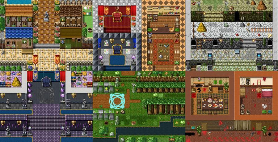 【RPGマップ素材】超絶ボリュームの「ファンタジーRPG」マップ素材、再公開しました! 100万円相当の素材が無料利用可能です。早速この夏、ツクールやウディタでゲーム制作してみよう♪→ http://t.co/MZwyapH8iZ http://t.co/AZKJYTWtS4