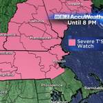 Severe thunderstorm WATCH issued until 8 PM. #WBZ http://t.co/l58Unoo75V