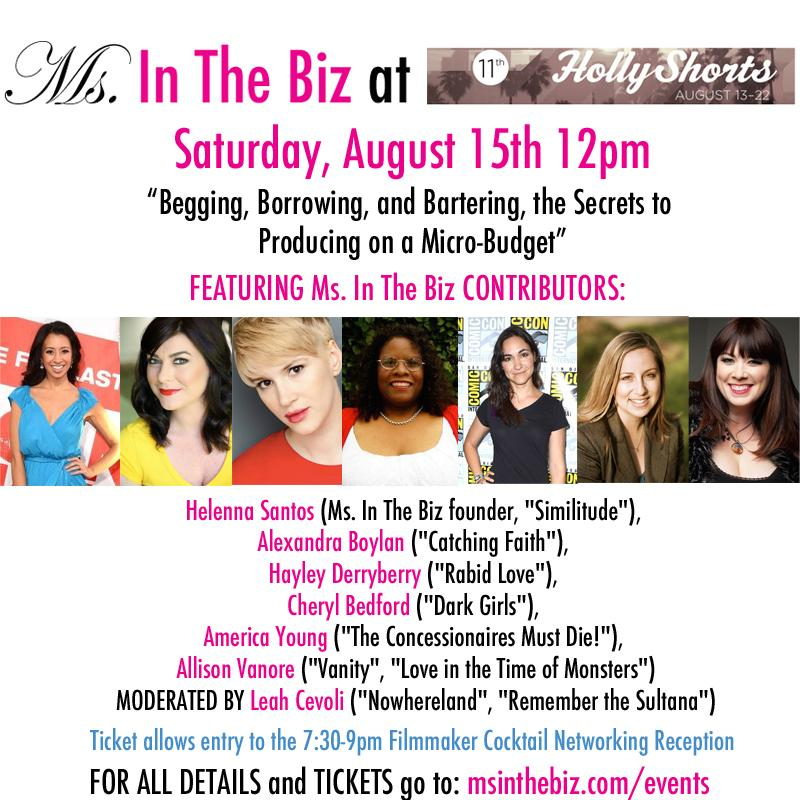 Come join me @aboylan4 @Leah_Cevoli @alliecine @America_Young @HaylzBellz @Cheryl_CLBP at @HollyShorts!  #indiefilm http://t.co/s4ireBewop