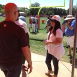 Valerie Bertinelli at #Browns practice today #hotincleveland @WKYC #3Browns @wolfiesmom http://t.co/Ut03wqbKTa