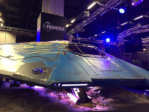 The #EliteDangerous Cobra has landed at #EDGC15 despite the blockade of #Calais Station! #Gamescom15 http://t.co/9PWrH1hHia