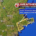 Severe thunderstorm warning for Essex County til 8:30am. #7news http://t.co/uICApQr02u