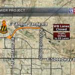 #CONSTRUCTION: WB Tanque Verde CLOSED btwn Pantano/Woodland. All traffic moved to EB side. Plan for slowing. #Tucson http://t.co/vdHeq86wOE
