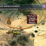 #CONSTRUCTION: Slowing on Ajo Way, west of #Tucson. 15 min delays!! http://t.co/fAp168rKkQ