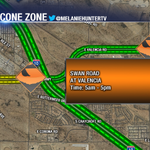 #CONEZONE- Paving work happening today on Swan Road at Valencia. Deputies will be on site to assist traffic. #Tucson http://t.co/qs2WZrRsod