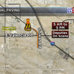#CONSTRUCTION: Final paving takes place on Swan near Valencia today. Part of long term work in the area. #Tucson http://t.co/kVbr74FcsN