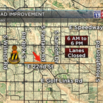#CONSTRUCTION: Starts up again today on the east side of #Tucson. Plan for delays on 22nd btwn Pantano/Sarnoff. http://t.co/iZDhkzvd0D
