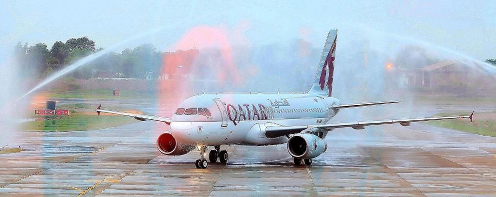 سيرت الخطوط_الجوية_القطرية أولى رحلاتها إلى مولتان في باكستان في ٢ أغسطس ٢٠١٥ http://