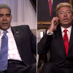 Jimmy Fallon pulled off the funniest Barack Obama/Donald Trump phone call last night. WATCH: http://t.co/XO2Kj0adcn http://t.co/ei3AkF4I5j