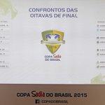 OS CONFRONTOS! Olha a confirmação de todos os duelos das oitavas! #SorteioCopadoBrasil http://t.co/MhfvRbIQyx