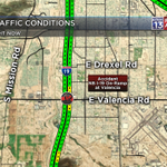 #ACCIDENT: Restricting the NB I-19 on-ramp at Valencia. Use Irvington for alternate highway access. #Tucson http://t.co/hKIcT2PwaJ