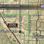 #ACCIDENT: On Ruthrauff at La Cholla on the NW side. Take Orange Grove/La Canada as your alternates. #Tucson http://t.co/DOmTz4GbKx