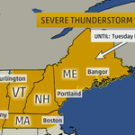 JUST IN: #Severe T-storm Watch in effect for E. NY to #Maine; including #Boston until 8pET: http://t.co/Pu45qAsvGQ http://t.co/XJ4Cv0eGSD