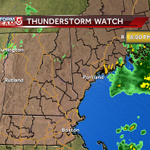 T-storm watch up until 8pm. Storms will feature large hail, damaging winds and possibly an isolated tornado. #WCVB http://t.co/qZMznoTw87