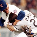 22 years ago today, Nolan Ryan gave Robin Ventura one of the most famous beatdowns in baseball history. http://t.co/6C8w5wxfpv