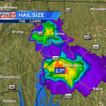 """Radar estimating over 2"""" diameter hail falling with this t-storm over Petersham... reports of 1"""" hail in Athol #wcvb http://t.co/3LKKeA6sgq"""