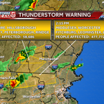 Severe thunderstorm warning extended to middlesex county. Hail up to ping pong size with winds up to 60 mph. #WCVB http://t.co/4SlWMNhurj