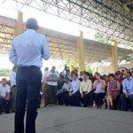 El gobernador de #Oaxaca, @GabinoCue reconoce el compromiso del @GobRep con el estado a través de programas sociales http://t.co/9pw505GjXH