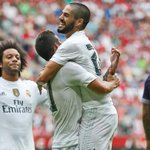 Real Madrid 2-0 Tottenham (James, 36'; Bale, 79'). ¡Ya estamos en la final de la Audi Cup! http://t.co/Euu7lkY25m