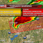 TORNADO WARNING!!!! Lowell Chelmsford Westford you need to seek shelter now!! #WCVB http://t.co/qjL19gdi7e