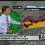 TORNADO WARNING for Worcester, Middlesex counties until 2:30 p.m. Watch @ericfisher on #WBZ http://t.co/5YUCP430up http://t.co/TIonMWgQbP