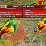 Second Tornado Warning for Worcester and Franklin County. Seek Shelter!!! #WCVB http://t.co/bZvNLifozc