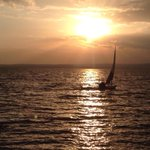 Today I sailed Lake Victoria, the second largest lake in the world, while the sun set. This place is unbelievable. http://t.co/fD8T1au9SQ