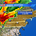 Severe TStorm Warning now for NE Middlesex, southern Essex county. Large hail & damaging winds. More now on #WCVB http://t.co/HbE9FHmNKJ