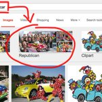"If you search Google images for ""clown car"" it suggests you refine by either ""circus"" or ""Republican"" http://t.co/AQ0wIYBQsO"