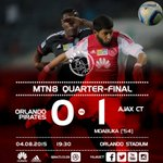 Full-time: Orlando Pirates 0-1 Ajax Cape Town Goal by: Ndiviwe Mdabuka #AjaxCT #MTN8 http://t.co/QeRvd8LKIs